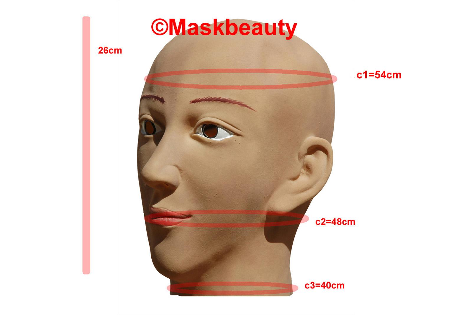 Sexy Halloween Disguise Foam Latex Full Head Female Maskbeauty Mask